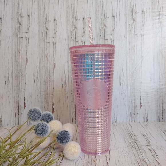 STARBUCKS | 2020 Light Grid Pink Disco Tumbler